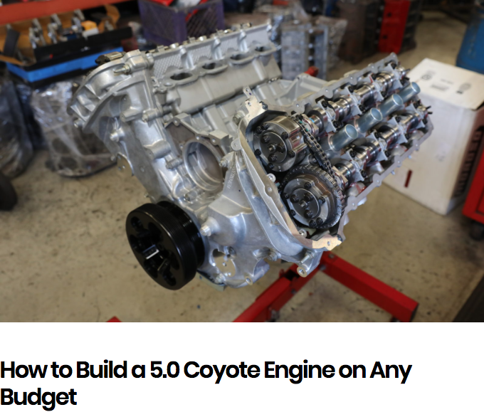 Moto IQ: How to Build a 5.0 Coyote Engine on any Budget