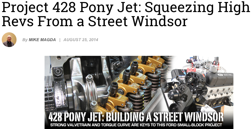 Project 428 Pony Jet: squeezing high revs from a street windsor