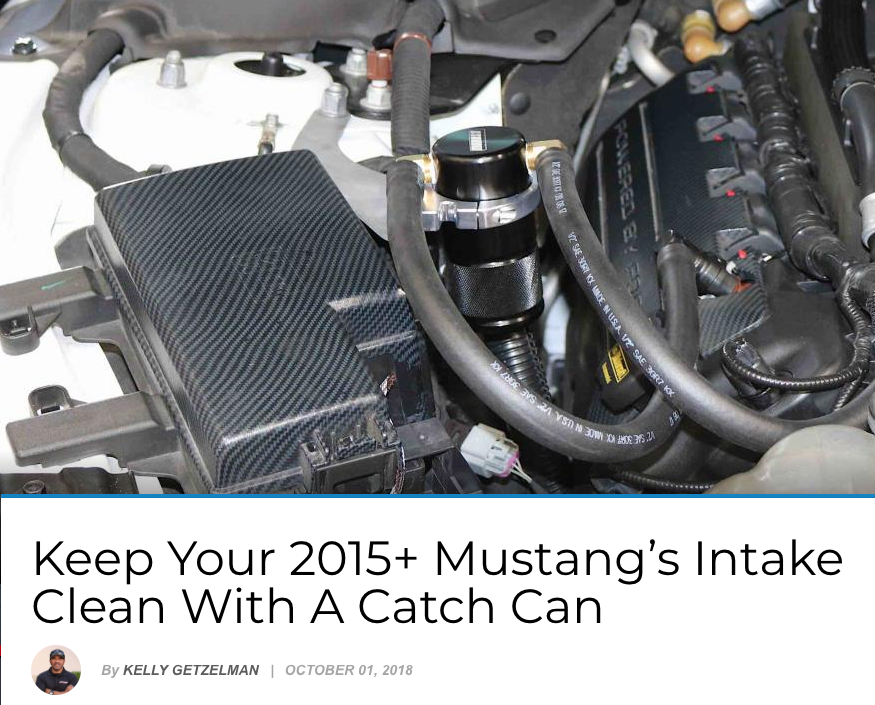 Ford NXT: Keep Your 2015+ Mustang's Intake Clean With A Catch Can