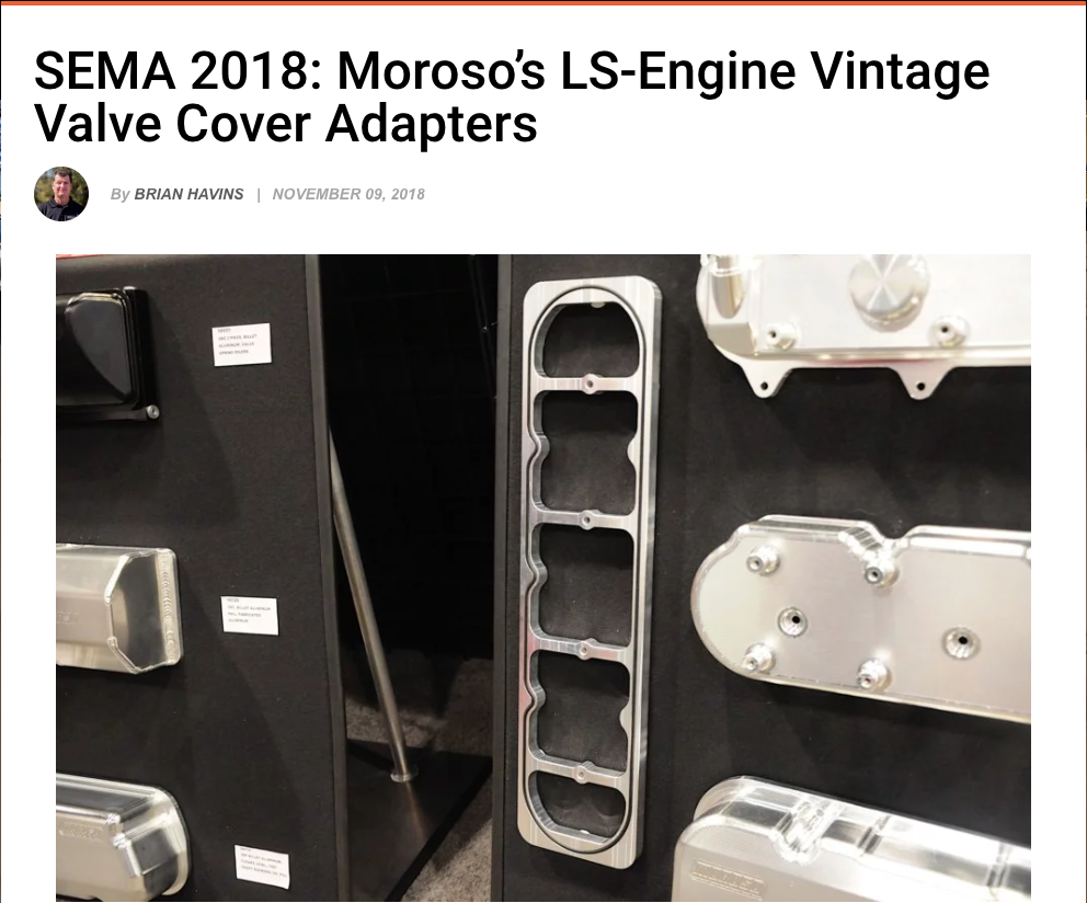 Street Muscle Magazine: Moroso LS-Engine Vintage Valve Cover Adapters