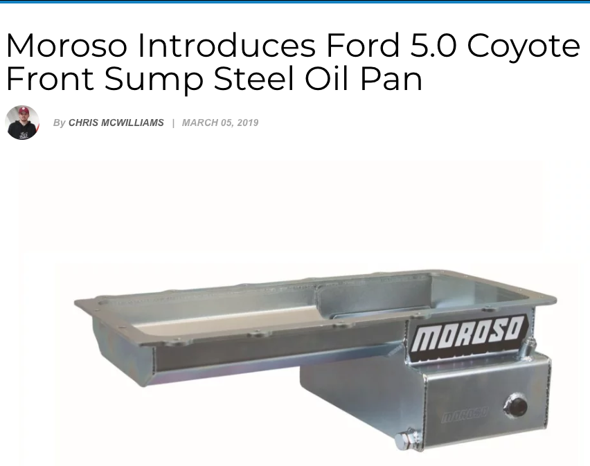 Ford NXT: Featured Article! Ford Coyote 5.0 Front Sump Steel Oil Pan