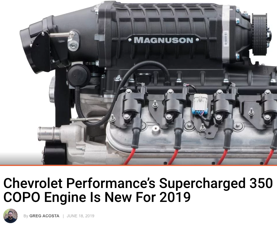 Street Muscle: Chevrolet Performance's Supercharged 350 COPO Engine