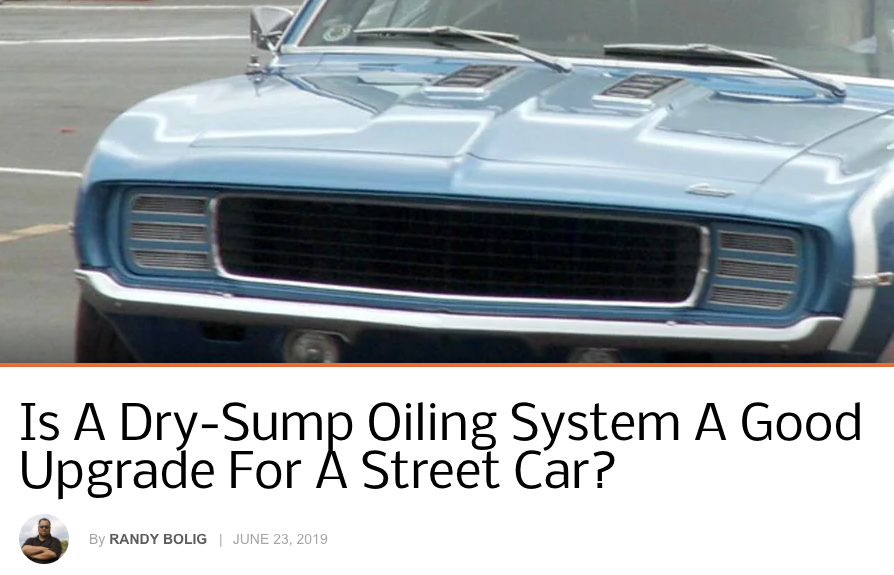 Chevy Hardcore: Is A Dry-Sump Oiling System A Good Upgrade For A Street Car?
