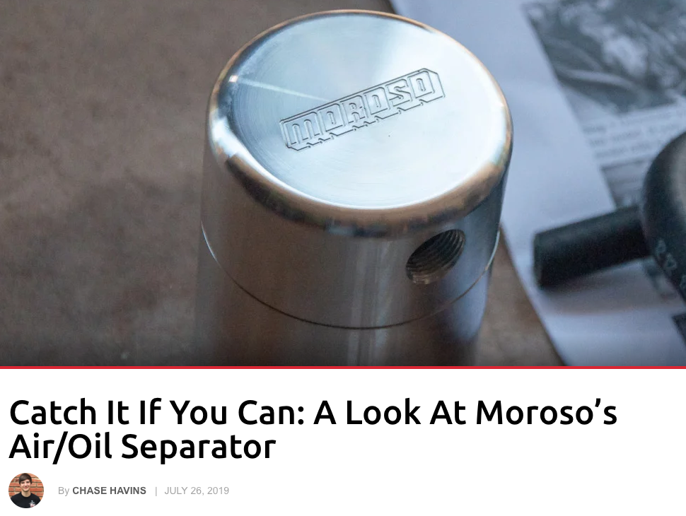 "Corvette Online: ""Catch it if you can: A look at Moroso's Air/Oil Separator"""