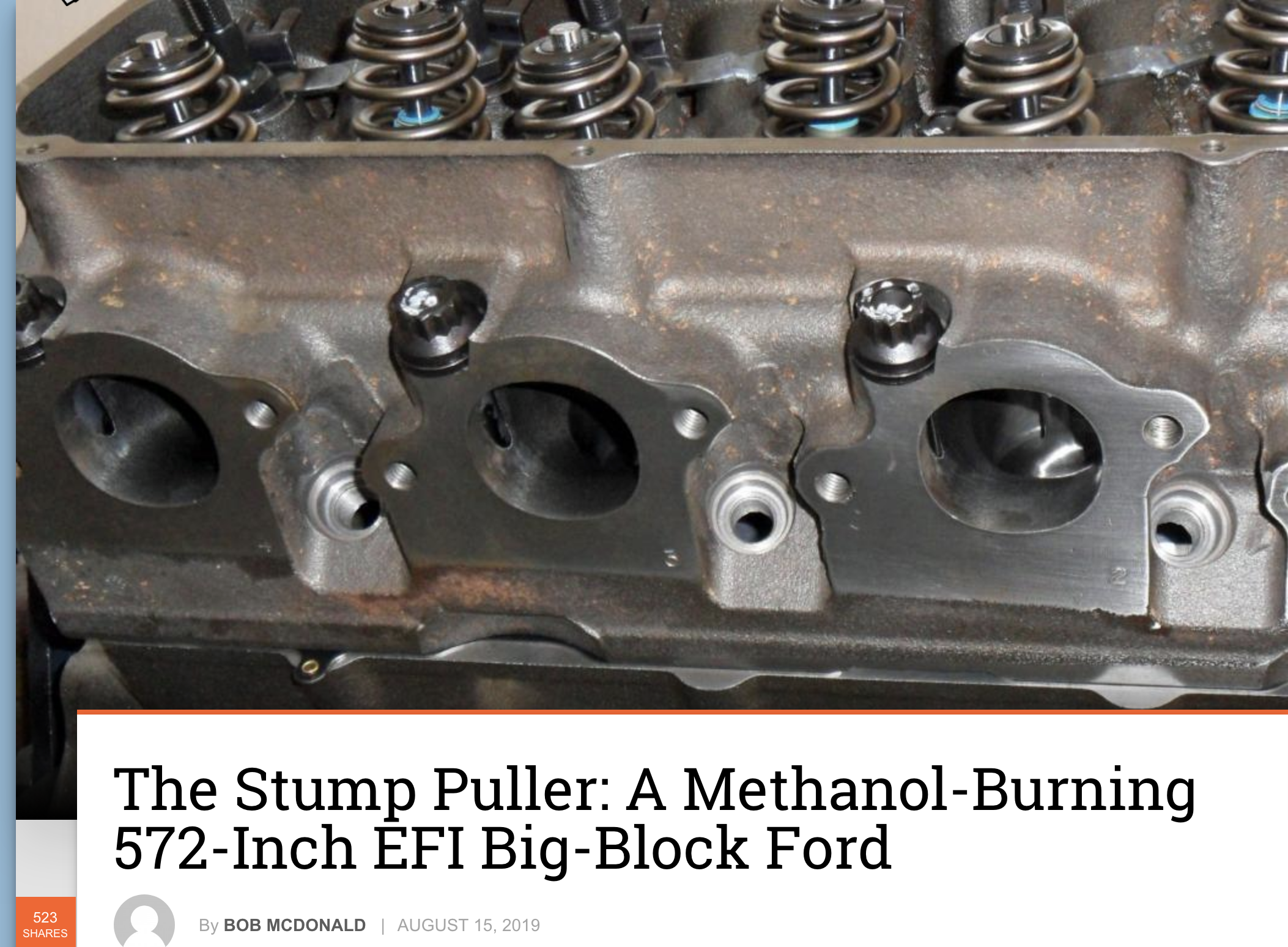 The Stump Puller: A Methanol-Burning 572-Inch EFI Big-Block Ford
