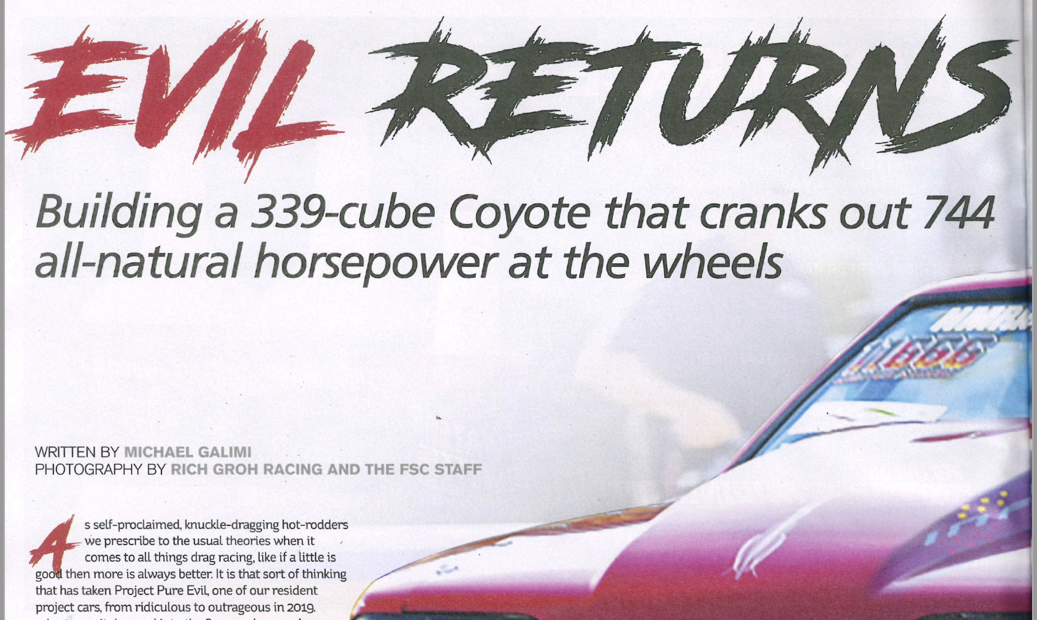 "Fastest Street Car Magazine:""Evil Returns"""