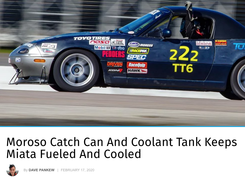 "Turnology: Featured Article! ""Moroso Catch Can And Coolant Tank Keeps Miata Fueled And Cooled"""