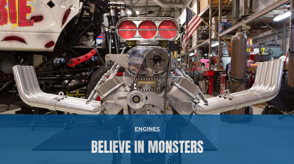 "Engine Builder: Featured Article! ""Mash the Throttle! Monster Trucks and Their Engines"""